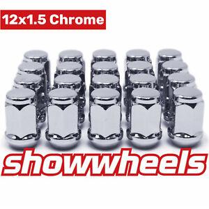 24 x SHOWWHEELS12x1.5 Chrome Wheel Nuts Fits Ford Ranger Triton Bravo BT50 Mazda