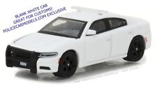 Greenlight 1/64 Blank White 2016 Dodge Charger Police Car GR8 4 Customs