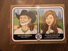 Willie Nelson Alison Krauss Baseball Card 6/13/14 Mann Music Center Philadelphia