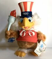 SAM THE OLYMPIC EAGLE ~ 1984 APPLAUSE SOFT TOY + TAGS ~ LOS ANGELES TORCH GAMES