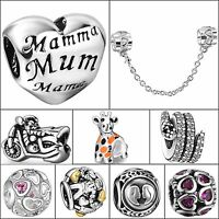 Hot Brand Fashion Silver Charms Bead Diy Fit 3mm European Bracelets 925 Jewelry