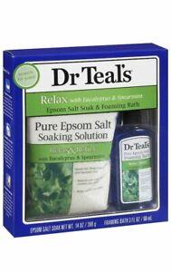 Dr Teal's Relax with Eucalyptus Spearmint Epsom Salt Soak Foaming Bath Set