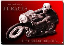 A3 Große Größe Isle Of Man Tt Races Motorrad Metall Schild