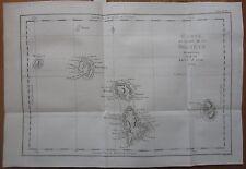 Cook: Map Society Islands Bora Bora Raiatea Tahaa Frensh Polynesia - 1774