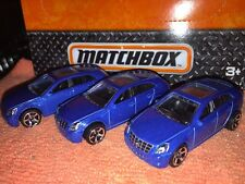 Lot Of 3 Matchbox Cadillac CTS Die Cast New Loose Blue 1:64