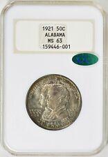1921 Alabama NGC + CAC MS63 Old Thick Holder Commem Half Dollar Commemorative