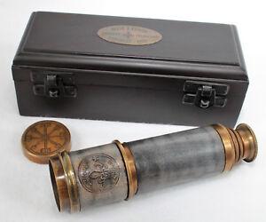 Marine Vintage viktorianisches 1915 nautisches Hand-Teleskop Messing Antik Teleskop Geschenk Replik Antik Geschenk