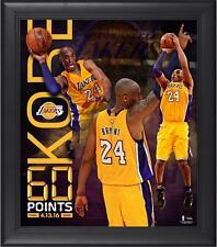 Kobe Bryant Lakers Enmarcado 15x17 60 punto Finale Collage-fanáticos