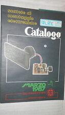 CATALOGO ELSE KIT Marzo 1987 Apparecchiature elettroniche Tecnica Manuale di e