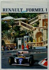Renault Sports Exclusio Formel 1 F1 Newsletter 1993 Williams FW15C Prost Hill