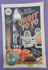 """Orbit yo-yo Giocattolo Spazio """"essere un astronauta"""" - 1960 S Nuovo di zecca IN CONFEZIONE"""