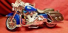 Maisto 1:18 Harley Davidson SIDECAR Blue MOTORCYCLE Toy Metal BIKE Model