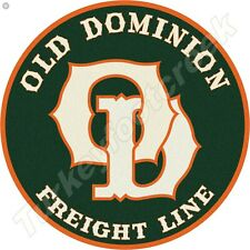 OLD DOMINION FREIGHT LINE 11.75in ROUND METAL SIGN