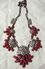 Glitzy Huge Crystal & Bittersweet DRAG QUEEN Pageant Gorgeous Fashion  Necklace