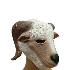 Creepy Goat Lamb Head Face Animal Costume Halloween Fun Party Prop Carnival Mask