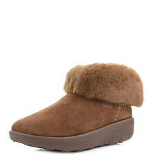 Womens Fitflop Mukluk Shorty Chestnut Shearling Lined Ankle Boots Shu Size