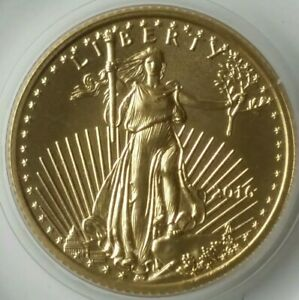 2016 $5 1/10oz Gold American Eagle in Capsule