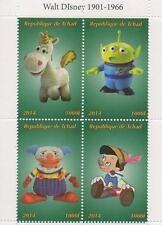 "DISNEY Toy Story ""PINOCCHIO 4.5"" x 3.5"" Tchad 2014 Gomma integra, non linguellato FRANCOBOLLO SHEETLET"