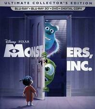 Monsters, Inc. (Blu-ray/DVD, 2016, 5-Disc Set, Includes Digital Copy 3D) NEW!!