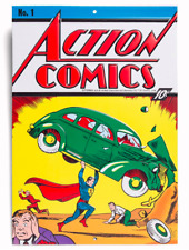 ACTION COMICS #1 METAL SIGN - FIRST SUPERMAN - NEW / SEALED