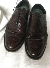 Florsheim Imperial Burgundy Oxford Wing Tips 10 93351 USA