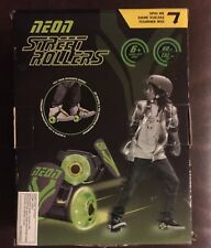 Green Neon Street Rollers ~ Light Up Wheels ~ Fits Shoe Skates A5