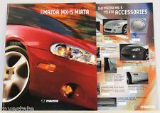 2003 03 Mazda Miata MX5  original sales brochure + Accessories brochure MINT