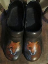 "Dansko Clogs Handpainted ""Fox by Rowl"" 8/100 NWOT - Brown/Orange Exquisite!"
