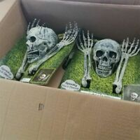 Creepy Halloween Party Skeleton Display Scary Horror House Lawn Props Skull Hand