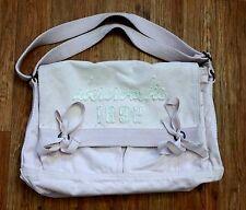 Abercrombie & Fitch Pink Canvas Shoulder Crossbody Tote Handbag Messenger Hobo