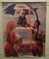 Spuds MacKenzie Vintage Poster Time Out Bud Light Original Pin-up Volleyball 80s