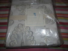 POTTERY BARN KIDS CORA PEACOCK DUVET COVER TWIN GRAY NEW