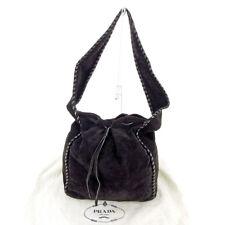 Auth PRADA Shoulder Bag Leather stitch  used L1953
