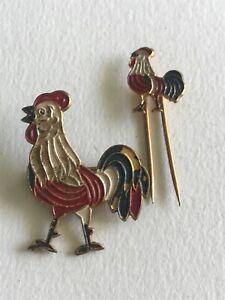 Set Of 2 Badges Rooster - REF59758