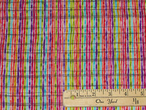 Butterfly  Claire de Lune Stripes Fabric by the (continuous) 1/2 Yard  #Y0426