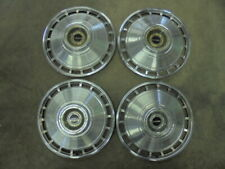 [4] 1964 Chevrolet Corvair Monza 13 Inch Hubcaps Wheel Covers With Centers Used.