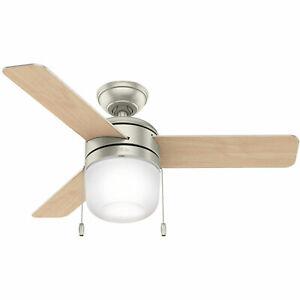 Hunter 59411 Acumen 42 Inch Indoor Ceiling Fan with LED Light Kit, Matte Nickel