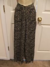 STYLEWORKS BLACK/WHITE PRINT  PULL ON pants size   6
