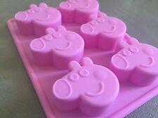 Peppa Pig Silicone Cupcake Jelly Fondant Choc Soap Baking Tray Mold Mould Party