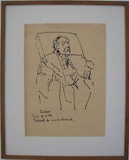 Orfeo TAMBURI (Jesi AN 1901 – Parigi 1994) Portrait Ritratto di Maurice VLAMINCK