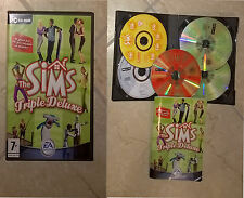THE SIMS TRIPLE DELUXE. EA Pc game Win. 5 CDrom. SIMULAZIONE. PERFETTO-ITALIANO