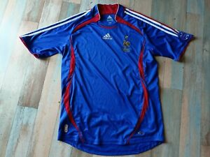 MAILLOT FOOT ADIDAS EQUIPE DE FRANCE 2006/07 FFF TAILLE M/D5 TBE