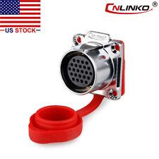 CNLINKO 24 Pin Power Circular Connector Female Socket Outdoor Waterproof IP67