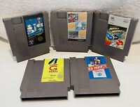 Nintendo NES Game Lot Of 5 Cleaned Tested Working