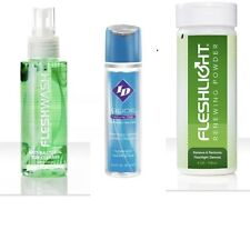 Fleshlight Wash Cleaner, Renewing Powder & ID Glide Lube DISCREET PACKAGING
