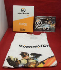 OVERWATCH RECRUIT KIT + T-SHIRT + BADGES - NEW - NOT A GAME - UK