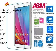 Protector Pantalla Cristal Vidrio templado Universal Tablet 6 7 8 9 9.7 10 10.1