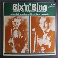 PAUL WHITEMAN: Bix 'n' Bing LP (UK) Jazz