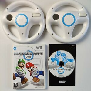 Mario Kart Nintendo Wii with 2x Official Steering Wheels