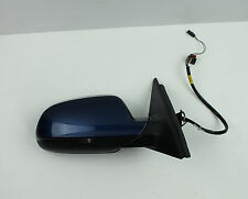 2009-2016 AUDI S4 A4 B8 WING MIRROR Right DRIVER SIDE in blue OEM 6+2 PIN